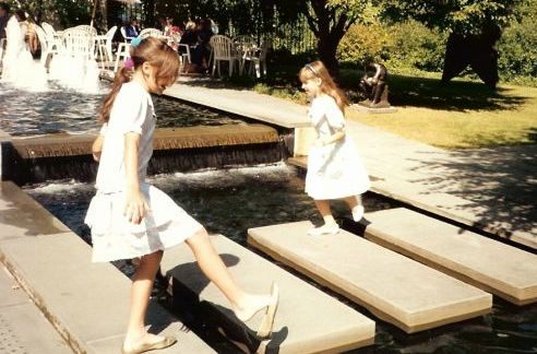 I'm playing lose the shoe on the left and my sister's the one in the headband--she had many!