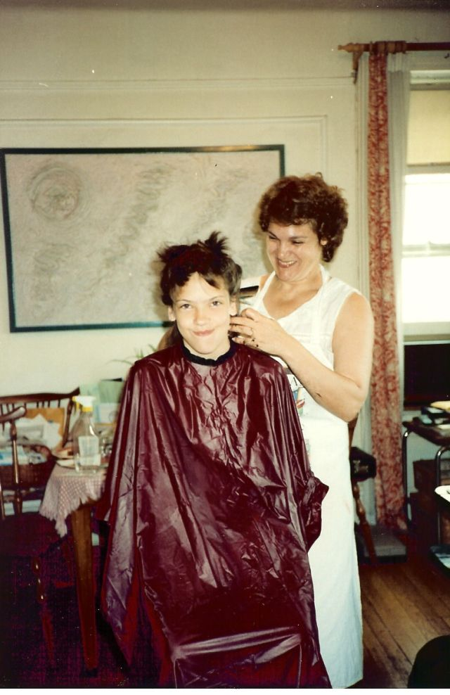 Back when Mom was my hair stylist.