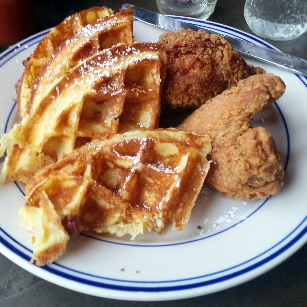 It's very unlikely that you'll have any chicken and waffles on the tour, BUT if you're in the mood I suggest Sweet Chick--one of the best meals I had all year!