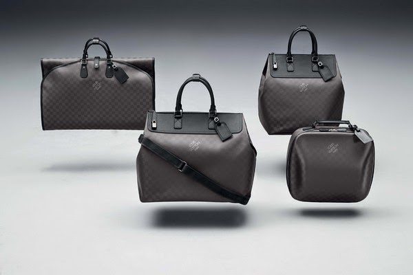 left to right   Garment Bag  $4,550.  Weekender GM  $7,600.  Weekender PM  $6,750.  Business Case  $7,150