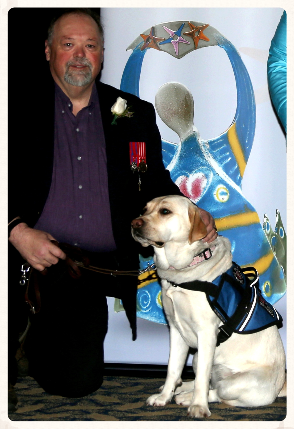 Medric was the recipient of a 2014 Mental Health Foundation of Nova Scotia  Inspiring Lives  Award. Photo by  Mike Dembeck .