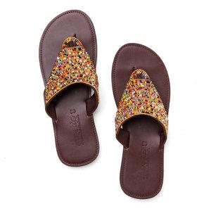 4ddf53a1cf99 MAIK SANDALS1 2098.jpg. Multi-Color Beaded Sandals