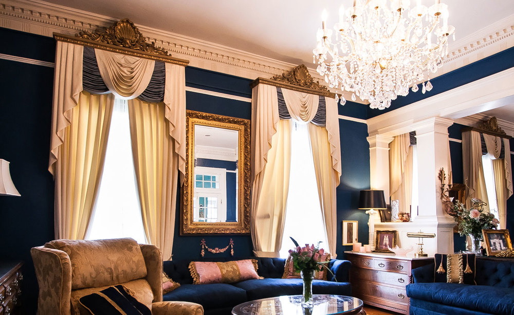 Living Room Curtains with Cornice