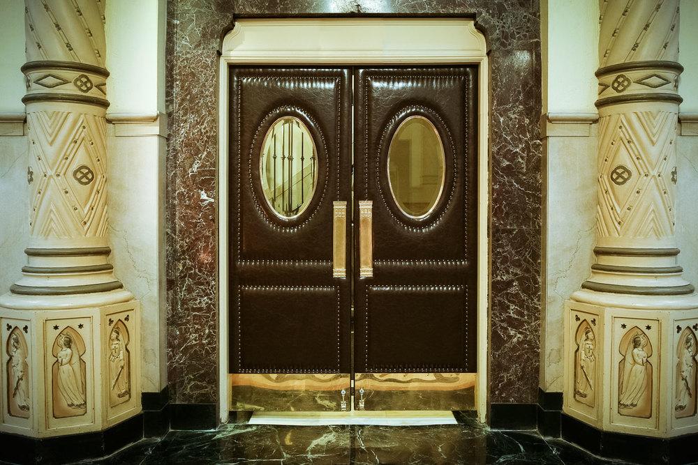 Upholstered  Church Doors
