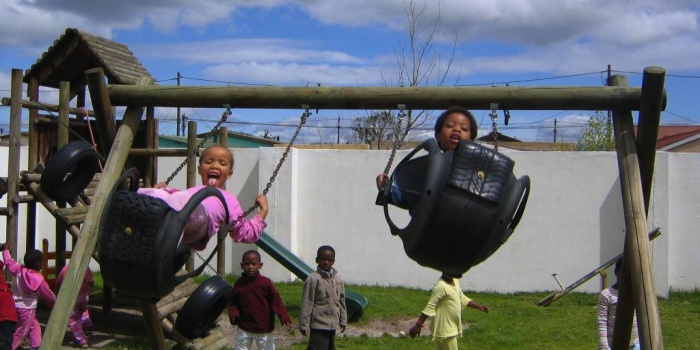 Kids playing at Etafeni Day Care Center