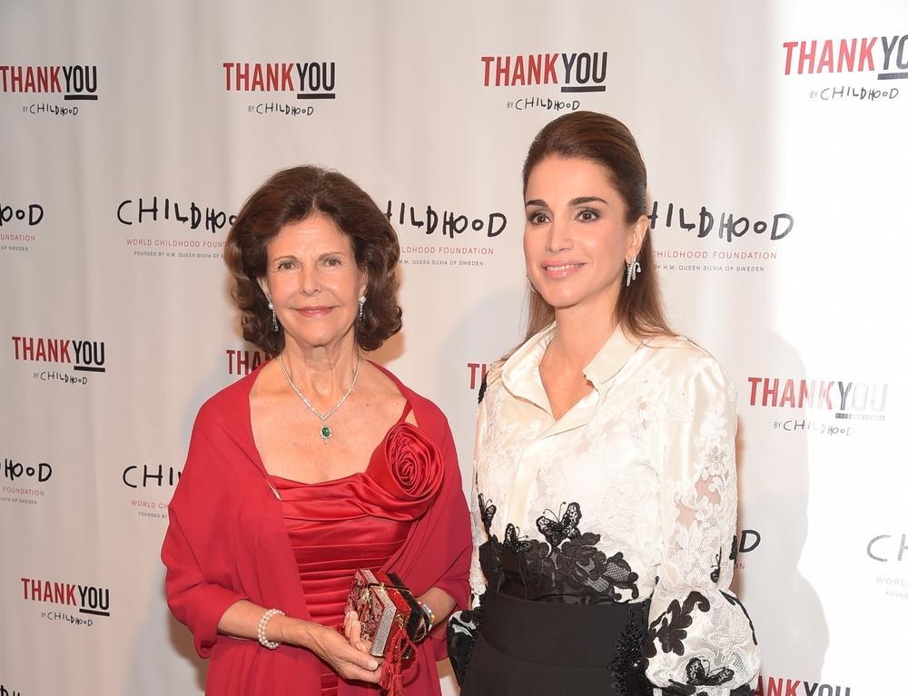 HM Queen Silvia with HM Queen Rania of Jordan