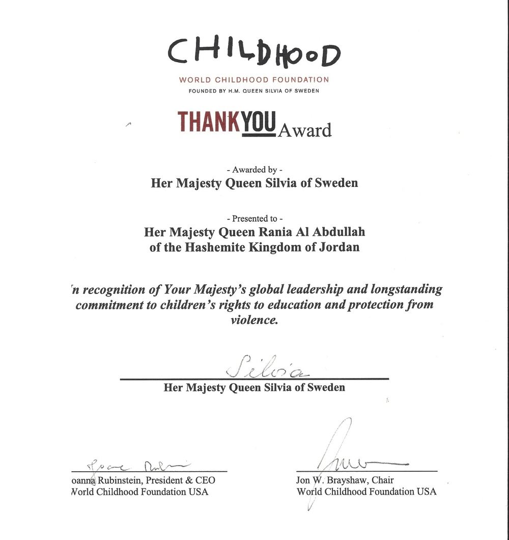 Childhood ThankYou Award Certificate
