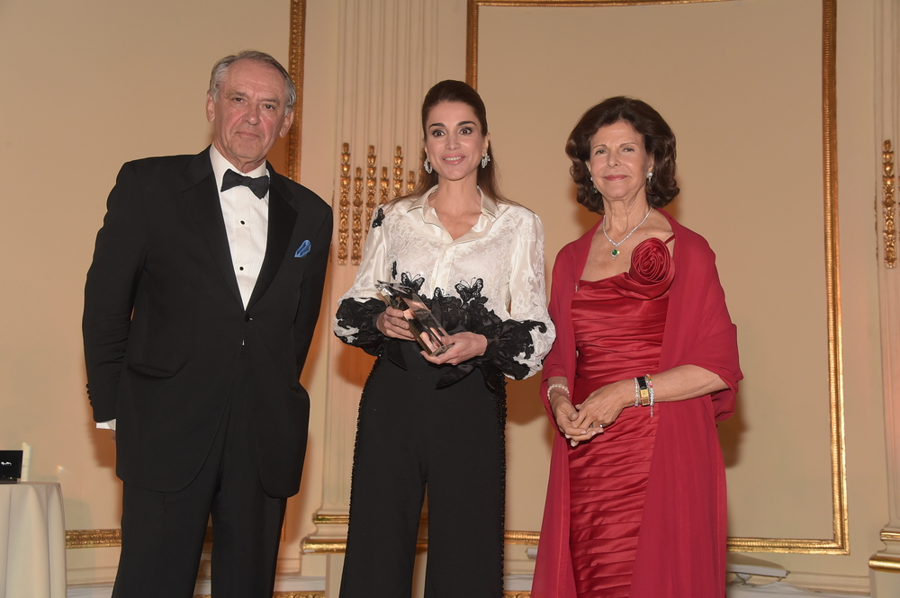 Jan Eliasson, Deputy Secretary General of the UN, Childhood ThankYou Awardee  H.M Queen Rania of Jordan, H.M Queen Silvia