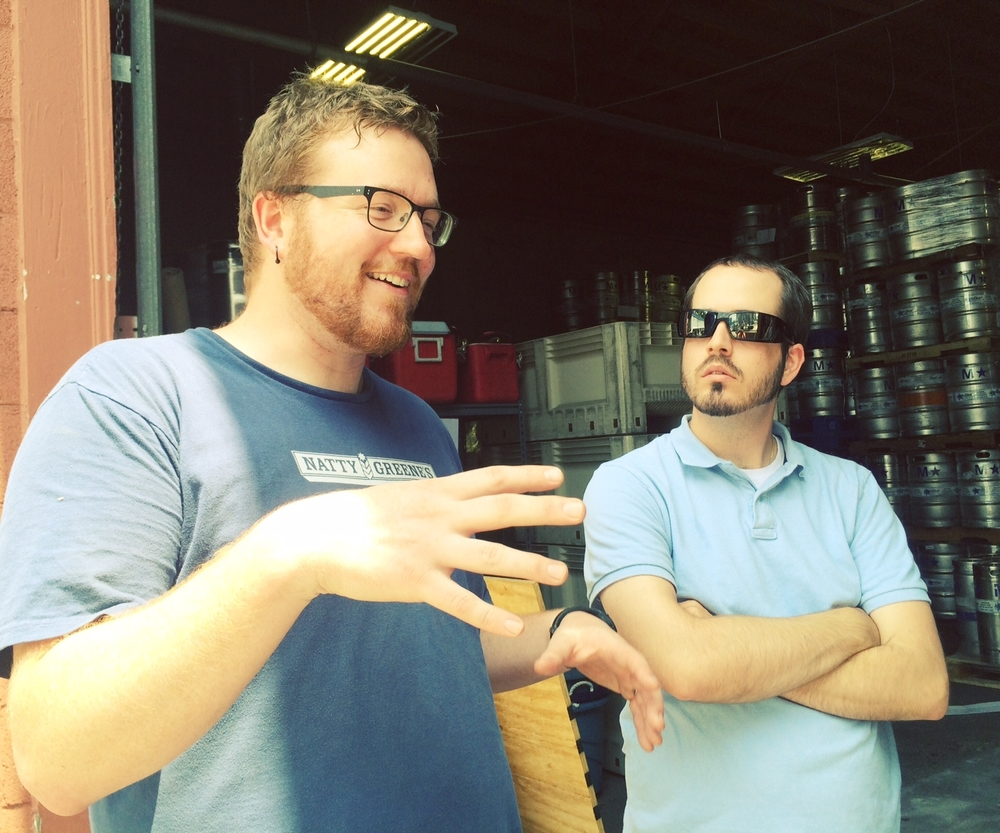 Joe and Stephen Walter of Company Shops Market talk beer.