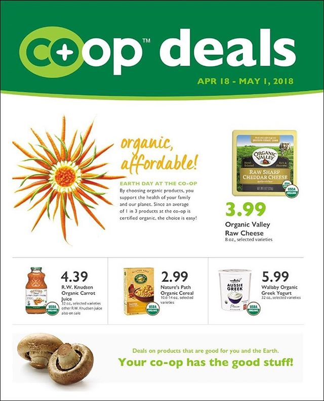 It's time for a fresh set of Co+Op Deals! These are in effect from April 18 - May 1, so make sure you visit the market soon to take advantage of them!: Click here to download the PDF: http://www.companyshopsmarket.coop/s/Coop_Deals-Apr-2018-B.pdf #companyshops #burlingtondowntown