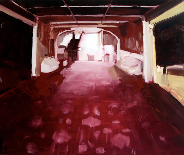 "Sea Root Genesis, 2013. Oil on canvas.18"" x 24"""