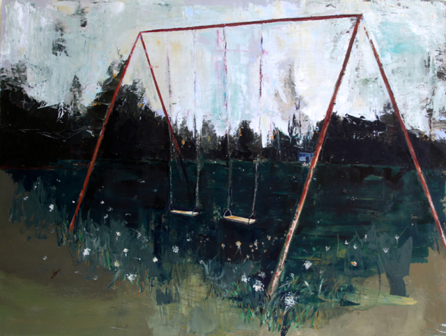 "Untitled , 2011. Oil on canvas. 48"" x 60"""