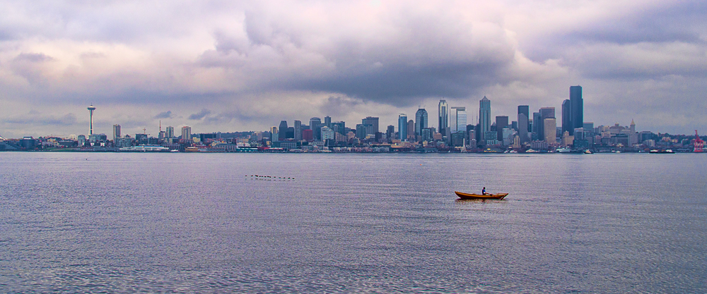 Seattle Oarsman. As the name and the iconic Space Needle both give away, this is Seattle Washington. I have visited Seattle a couple of times now, and I always find myself at Alki in West Seattle. It is a great location to see the skyline view of downtown Seattle.