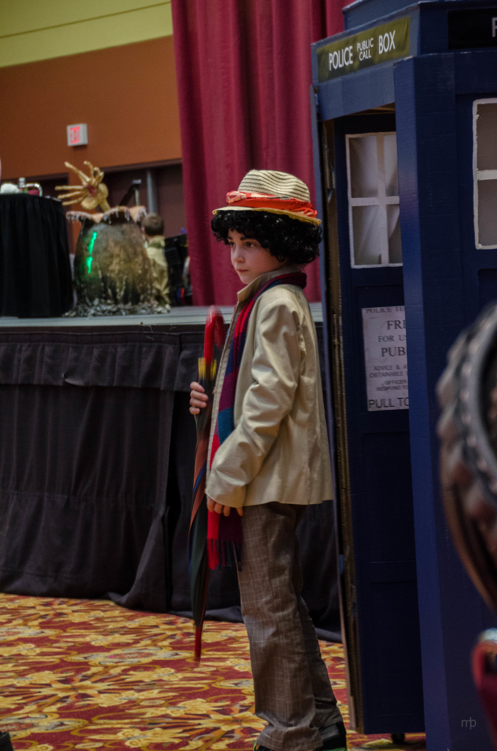 Seventh Doctor Who cosplay.  Taken at Planet Comicon 2014.