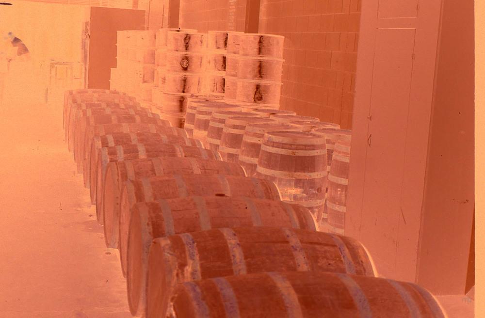Whiskey Barrels Negative. Heaven Hill Distillery.