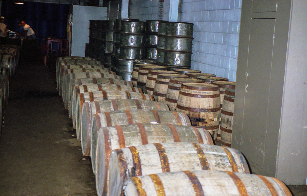 Whiskey Barrels. Heaven Hill Distillery.