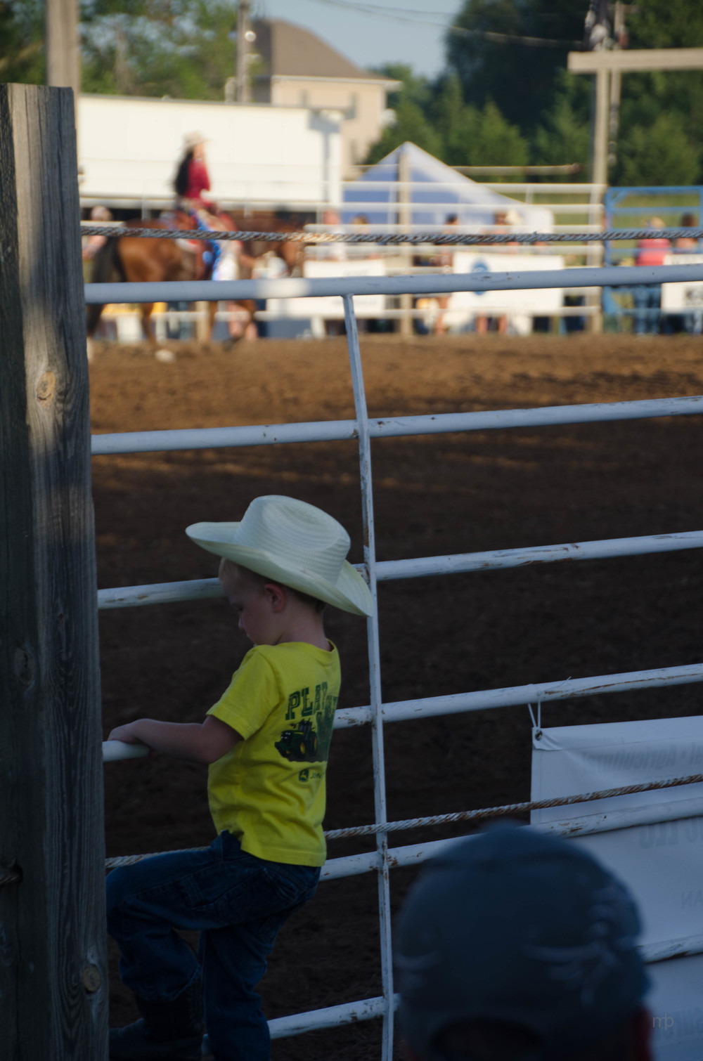 Fence Climbing.  Longford Rodeo 2013.