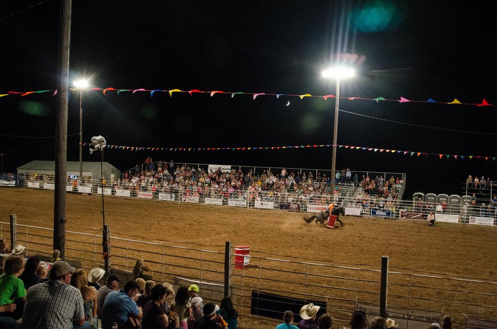 Around the Barrel. Barrel Racing. Longford Rodeo 2014