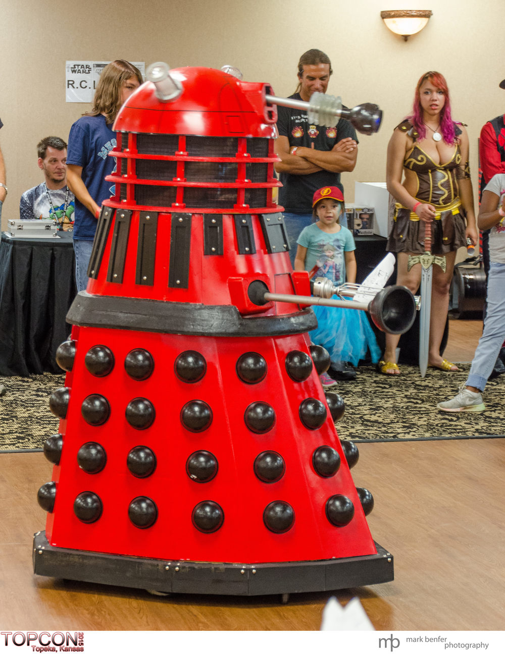 Red Dalek. Cosplay and fun from TOPCON 2015, Topeka, Kansas.