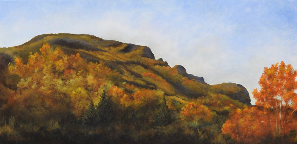"""Views Made in NC, Grandfather Mountain"" North Carolina  Original: 24"" x 12"""