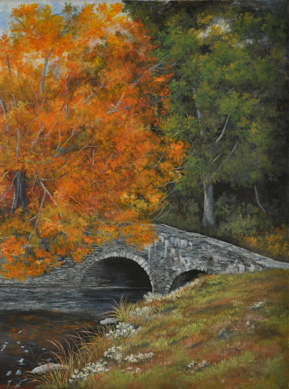 """Morning Crossing @ Bass Lake"" Blue Ridge Parkway, NC  Original: 12"" x 16"""