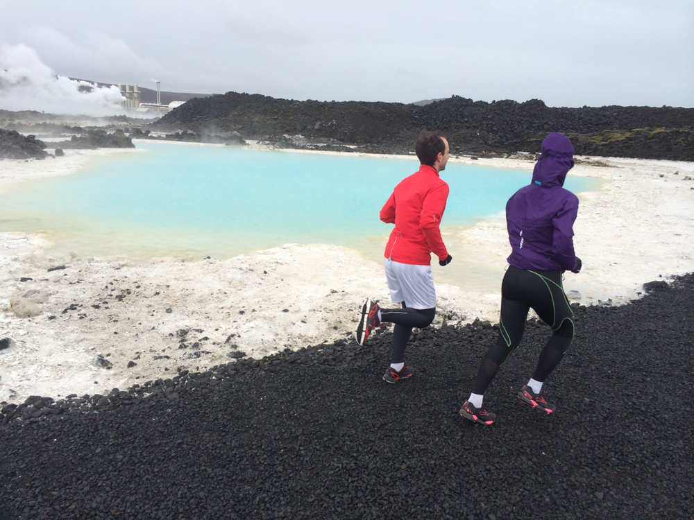 Running by Blue Lagoon