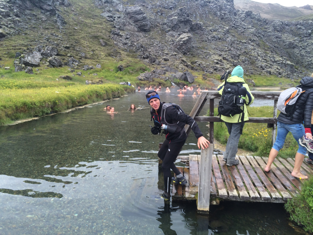 Step into a natural pool in Landmannalaugar