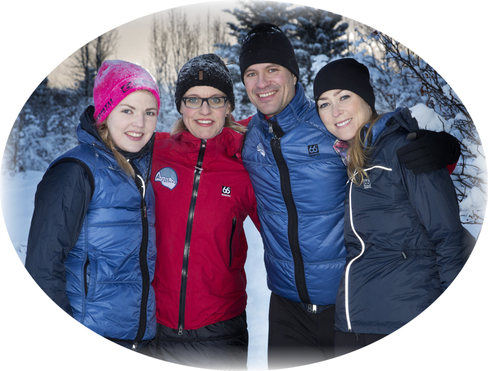 A part of the Arctic Running team: Helga, Gunnur, Birkir and Elísabet.