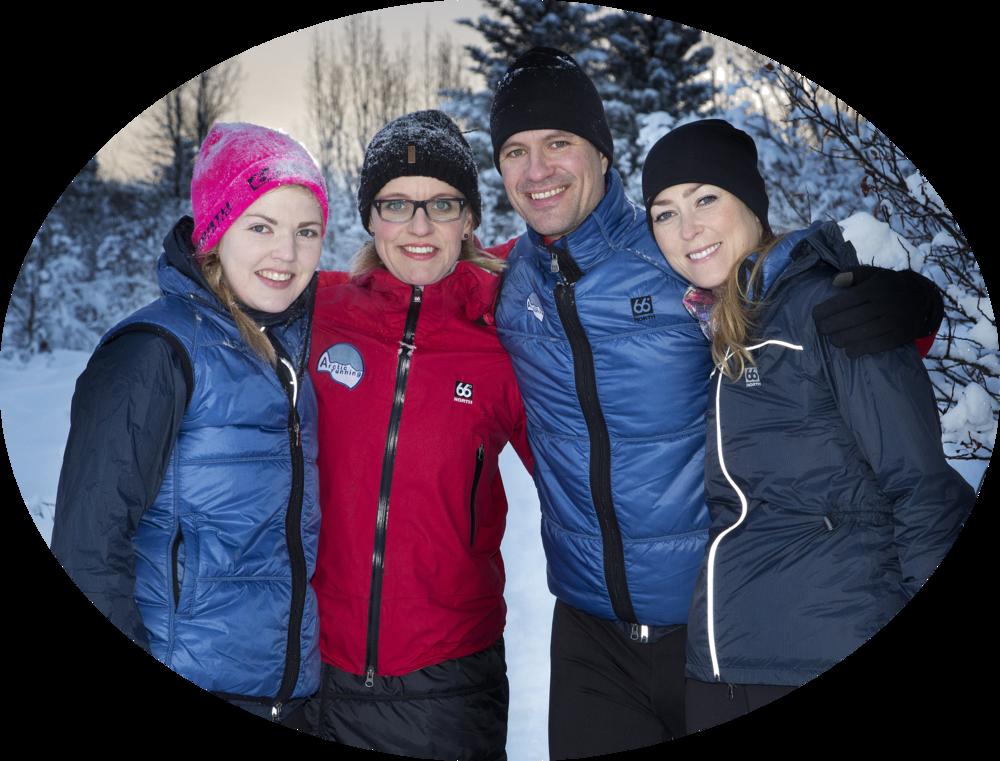 A Part of the Arctic Running Team: Helga, Gunnur, Birkir and Elísabet.