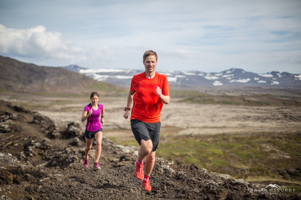 Runner in focus