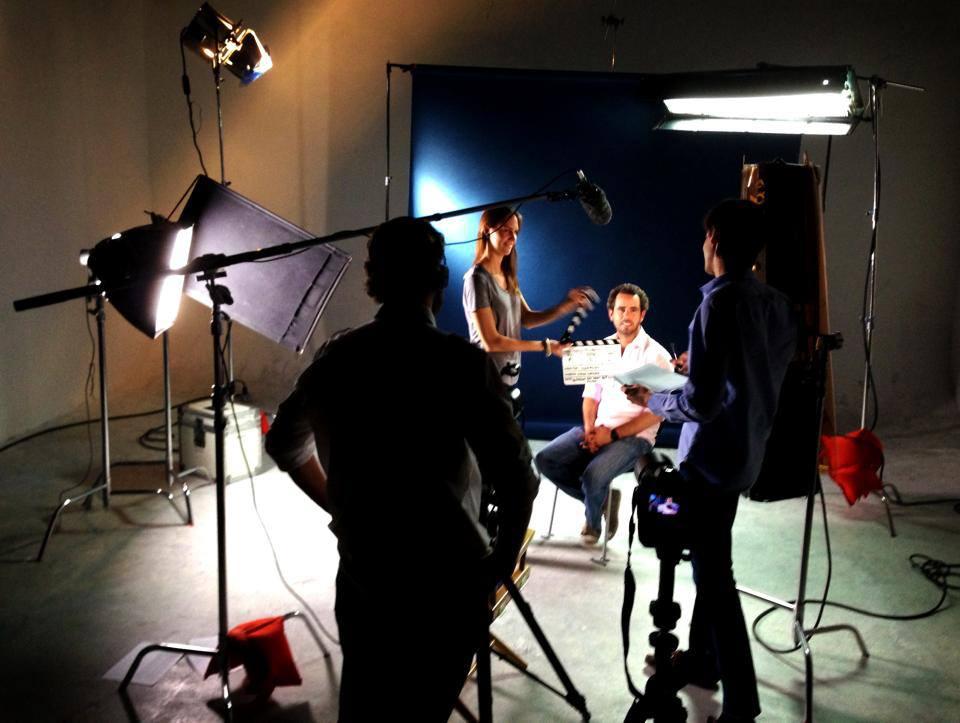 Set de entrevistas en la ciudad de México
