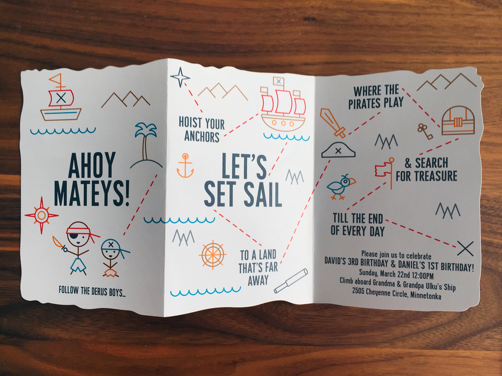 Ahoy Mateys! Invitation by Anne Ulku