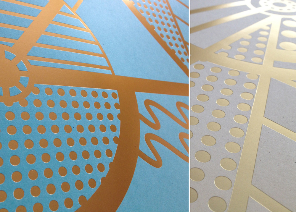 Anne Ulku Artcrank Gold Bicycle gold foil print
