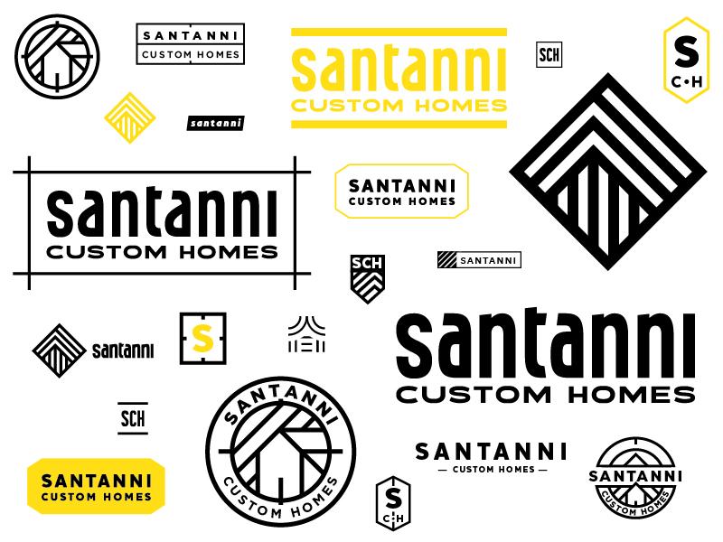 Made a new logo for Santanni Custom home builders