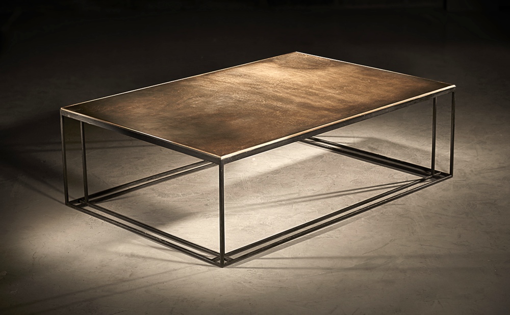 BRASS BINATE TABLE