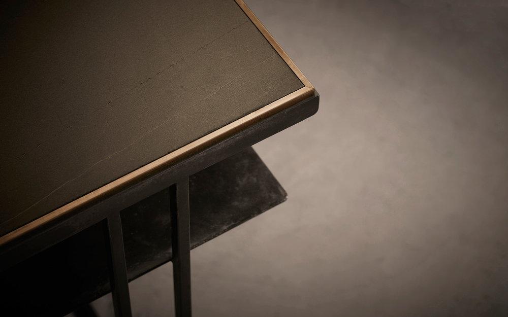 Slate Cross Binate Side Table