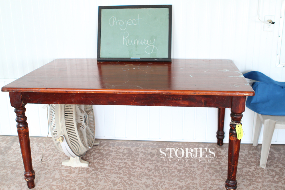 My blank slate work table