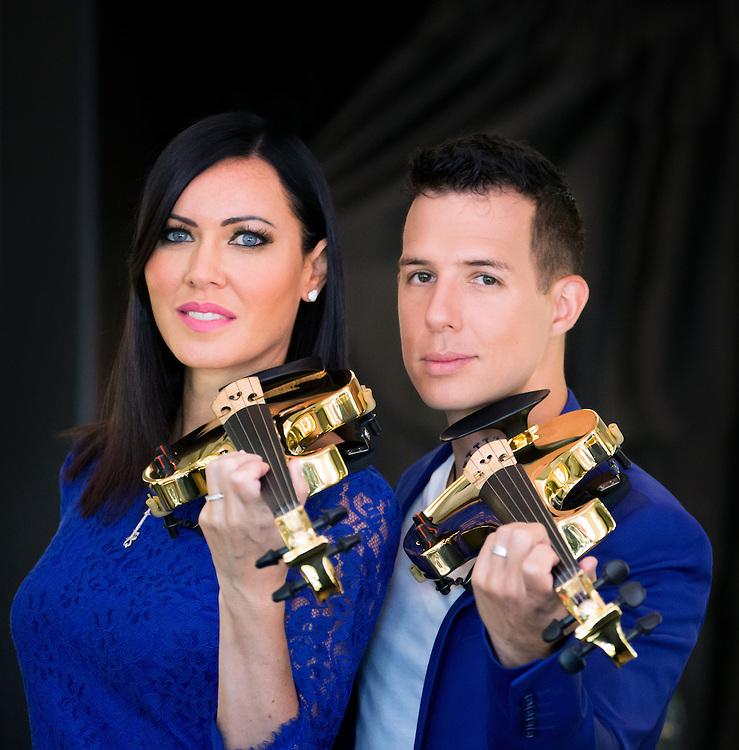 24karat gold plated violins for Fuse.