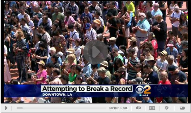 CBS Los Angeles: 1,000 Ukulele Players Attempt To Break World Record In Downtown LA