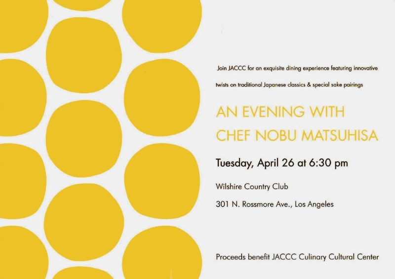 AN EVENING WITH CHEF NOBU MATSUHISA