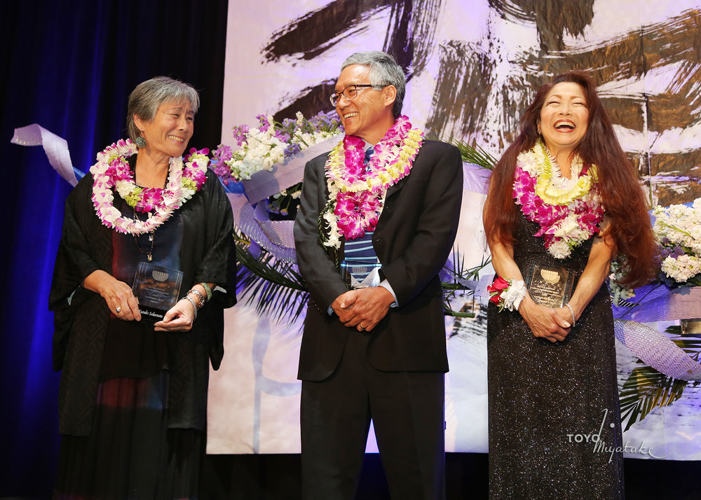 2016 Community Spirit Award Recipients Yasuko Sakamoto, Gordon Tani, and Carol Tanita