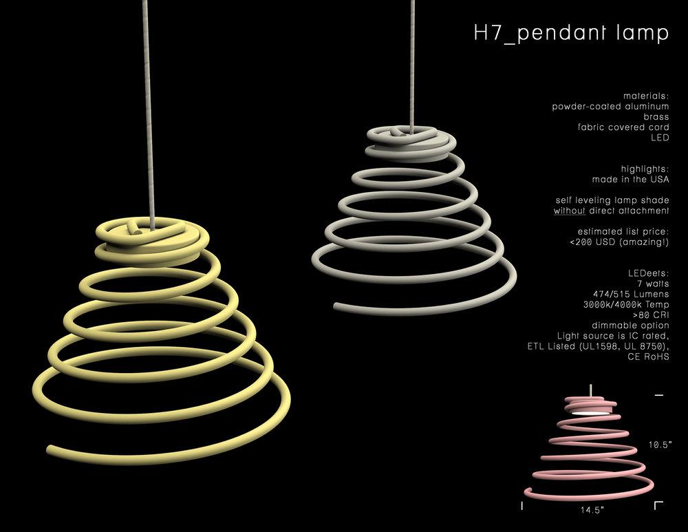 H7_pendant lamp, 2017