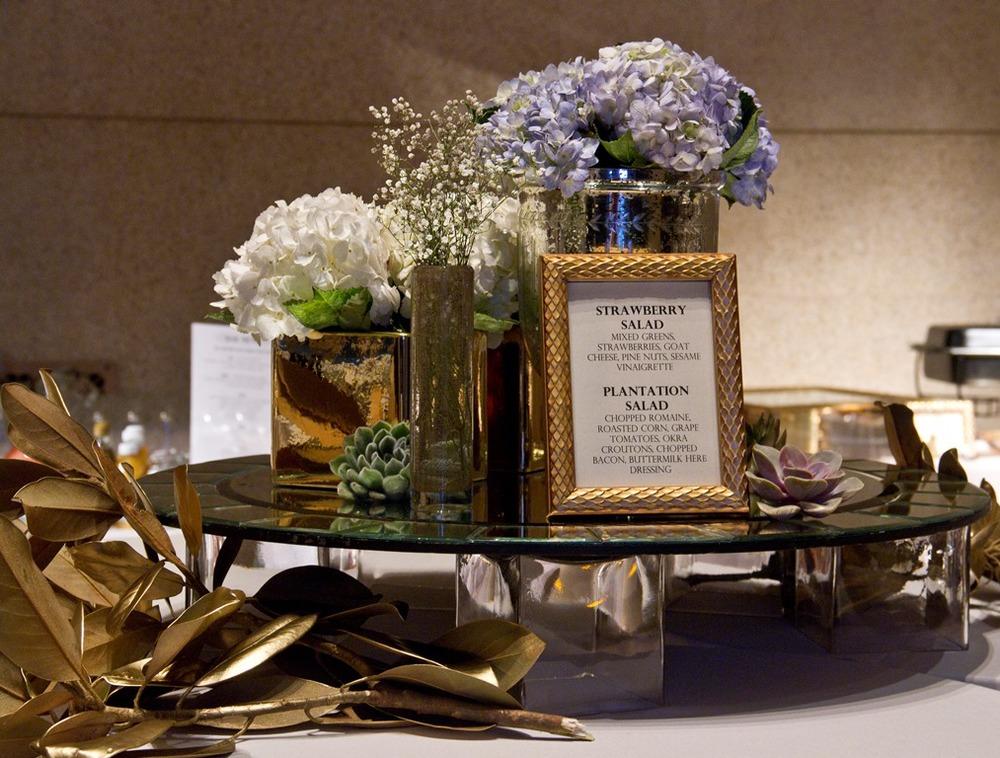Gold inspired buffet