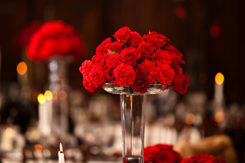 Stunning red centerpieces
