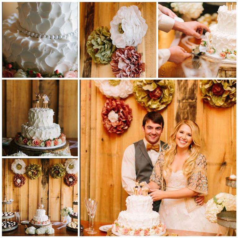 white wedding cake pink roses