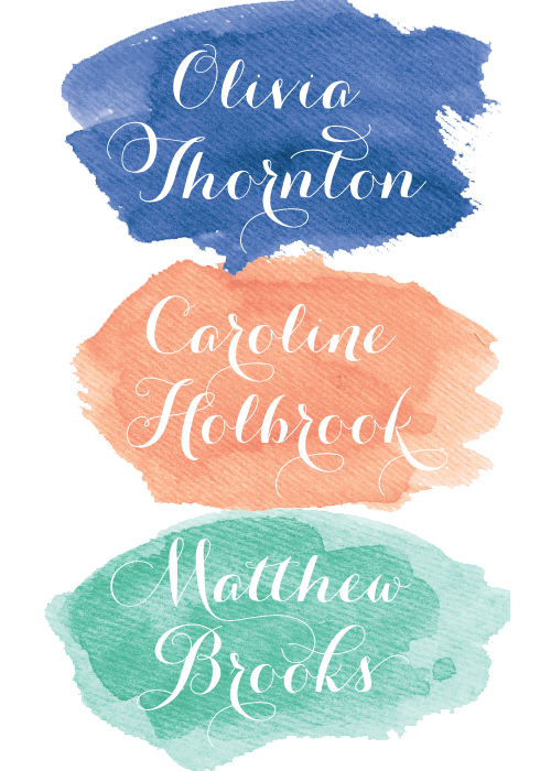 Watercolor escort cards: J Amber Creative