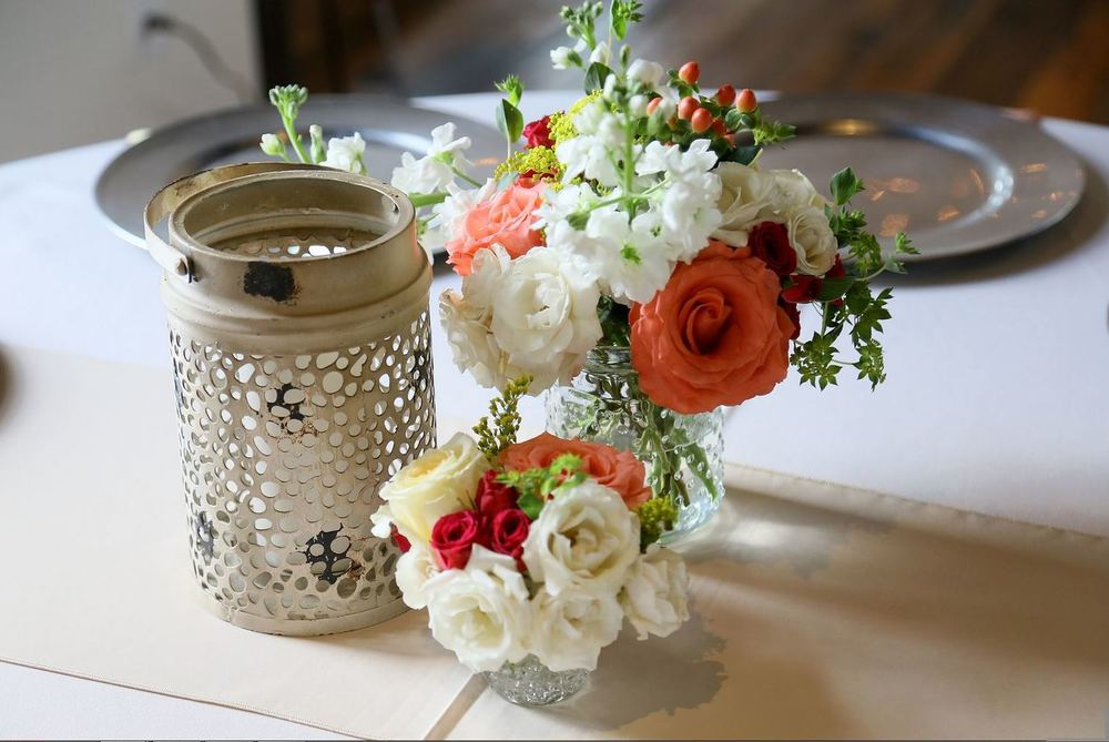 summer centerpiece lantern