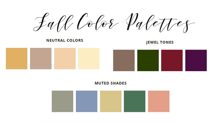 Fall weddings color schemes nashville wedding planner weddings fall color palettesg junglespirit Gallery