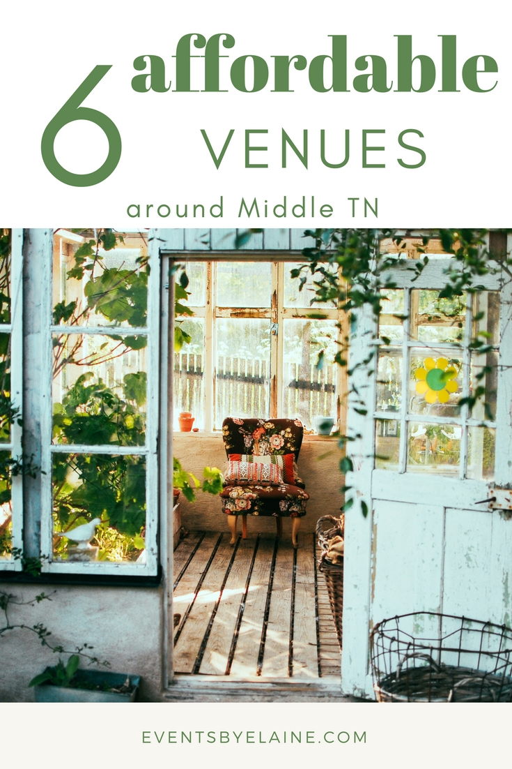 Middle Tennessee Wedding Venues | 6 Affordable Venues Around Nashville Nashville Wedding Planner