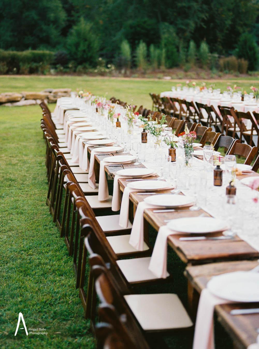 family style farm tables